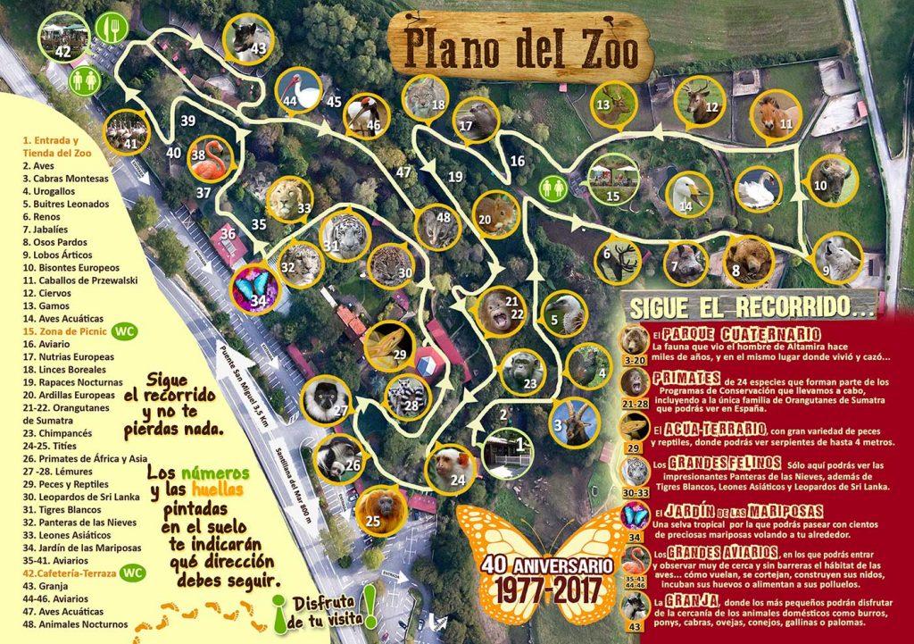 Plano del Zoo de Santillana