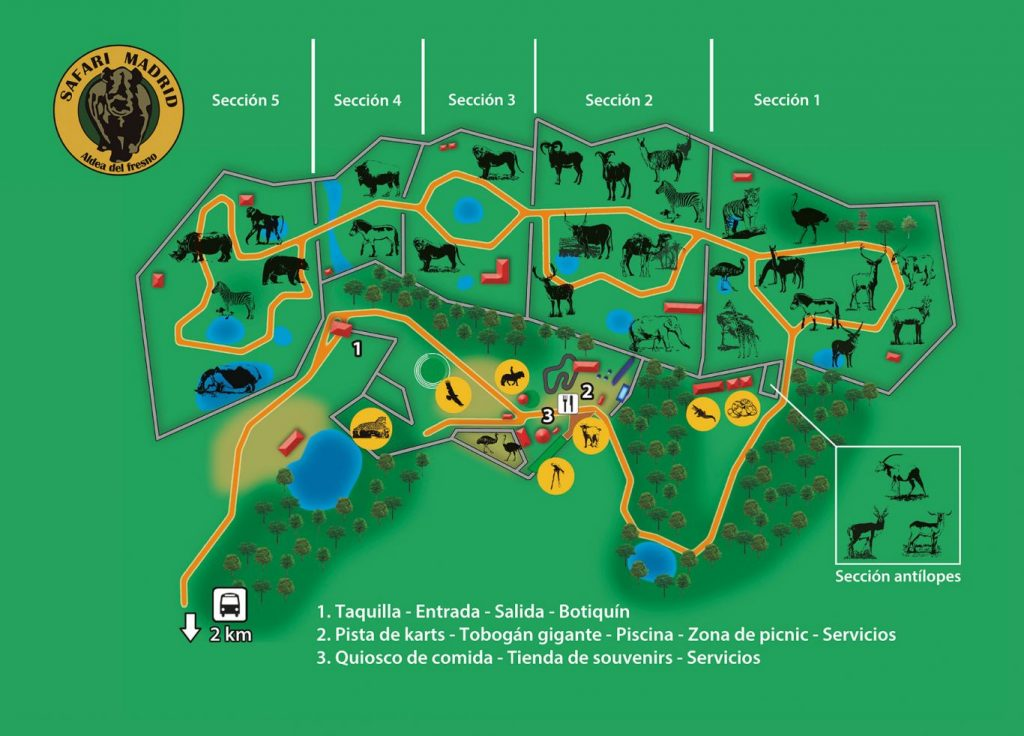 Mapa del Safari Madrid