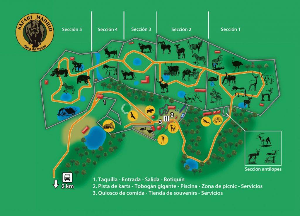 Mapa del Safari Madrid